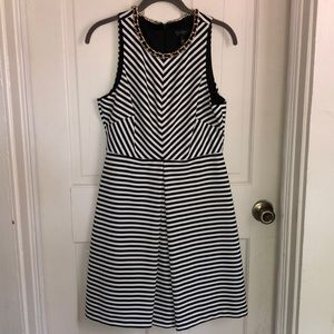 Jessica Simpson black and white striped dress